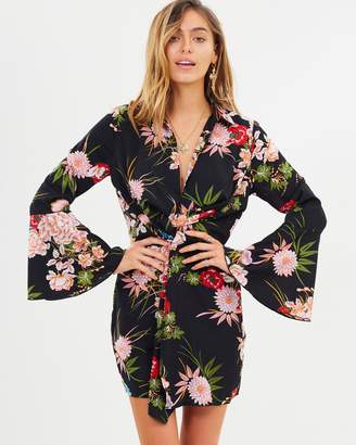 Missguided Floral Twist Front Mini Dress