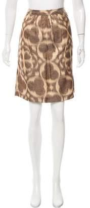 Tory Burch Silk-Blend Knee-Length Skirt