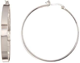 Argentovivo Sterling Silver 39mm Hoop Earrings