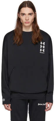 Palm Angels Black Under Armour Edition Loose Sweatshirt