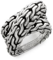John Hardy Classic Sterling Silver Chain Ring