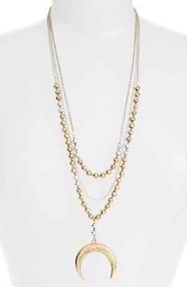 Karine Sultan Multistrand Pandant Necklace