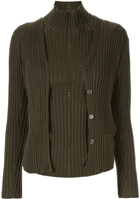 Hermes Pre-Owned ribbed-knit twin set