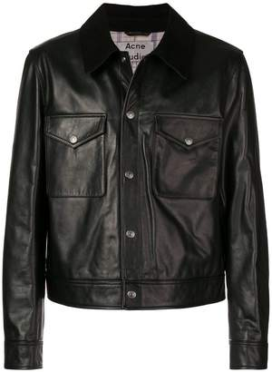 Acne Studios collared leather jacket