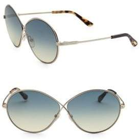 Tom Ford Rania 64MM Oval Sunglasses