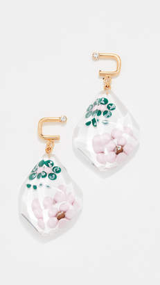 Marni Metal and Resin Floral Earring