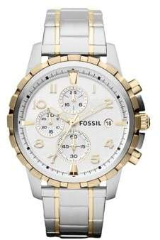 Fossil Mens Dean Stainless Steel Two-Tone Watch