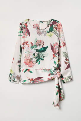H&M H&M+ Patterned Blouse - White