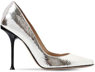 Sergio Rossi 105mm Sr Milano Crackled Leather Pumps