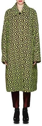 Dries Van Noten Women's Geometric-Pattern Sweater Coat