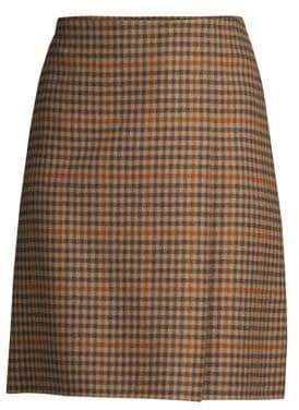 Max Mara Sabina Plaid A-Line Skirt