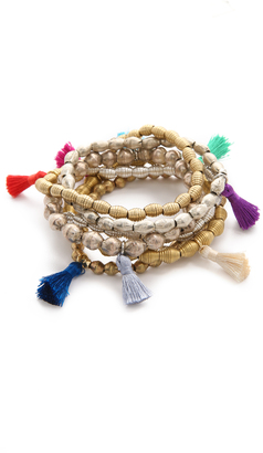 Lacey Ryan Happy Hands Bracelet Set $172 thestylecure.com