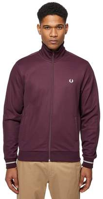 Fred Perry Dark Red Embroidered Logo Jacket