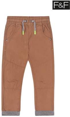 F&F Boys Tobacco Tan Woven Trousers - Brown