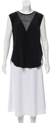 Rebecca Taylor Sleeveless V-Neck Top w/ Tags