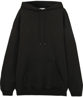 Balenciaga - Oversized Cotton-jersey Hooded Top - Black