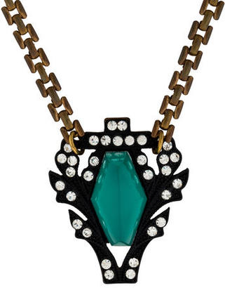 Lulu Frost Two-Tone Crystal Pendant Necklace $175 thestylecure.com