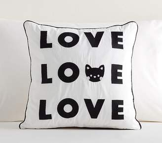 Pottery Barn Kids Eleanor Kitty Love Pillow