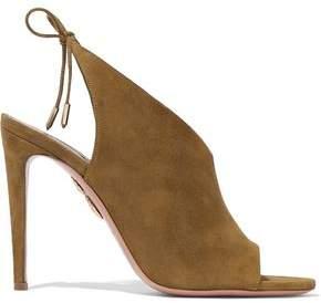Aquazzura Ami Suede Sandals