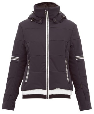 Toni Sailer Antonia Striped Soft Shell Ski Jacket - Womens - Black