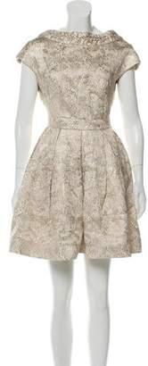 Zac Posen Brocade A-Line Dress