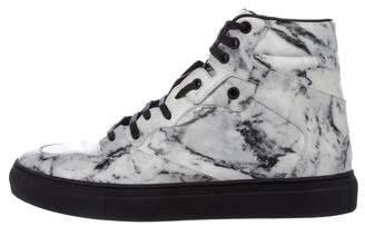 Balenciaga Marble High-Top Sneakers
