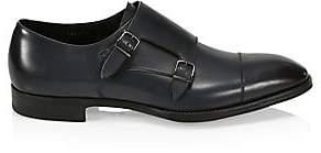 Giorgio Armani Men's Leather Double-Monk Strap Shoes
