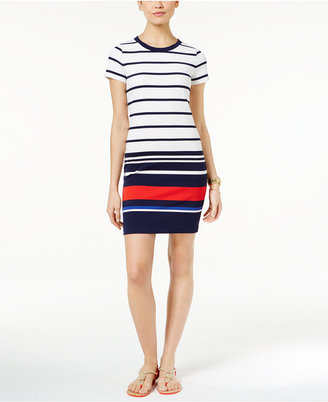 MICHAEL Michael Kors Striped Shirtdress $98 thestylecure.com