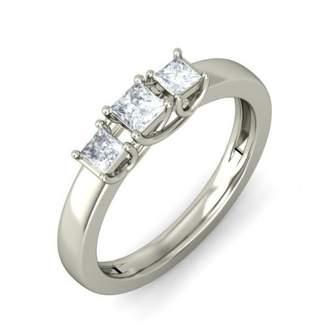 Trilogy FineTresor Half Carat Princess Carat Ring in White Gold