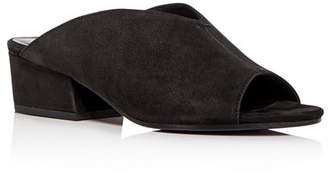 Eileen Fisher Women's Katniss Nubuck Leather Block Heel Slide Sandals