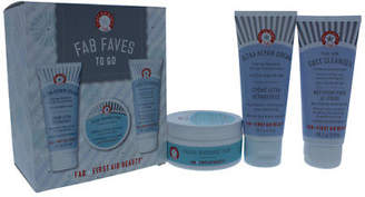 First Aid Beauty Faves To Go Kit 2oz Face Cleanser, 2oz Ultra Repair Cream, 28ct