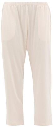 Skin - Elasticated Waist Cotton Jersey Pyjama Trousers - Womens - Pink