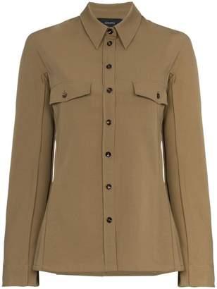 Joseph Ozzy button-down wool blouse