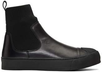 Neil Barrett Black Hybrid Sock-Skater Sneaker