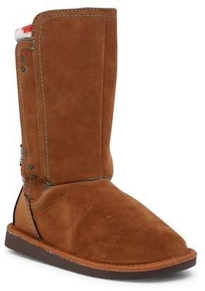 Muk Luks Stacy Faux Fur Lined Boot (Little Kid)