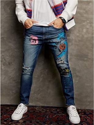 GUESS Men's Extreme Vintage Utility Fit Jean wash Destroy