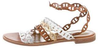 Hermes Leather Multi-Strap Sandals