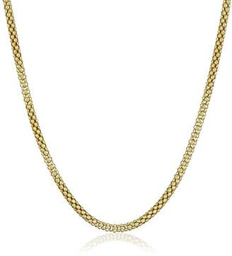 Sterling Silver Antique-Finish Popcorn Chain Necklace