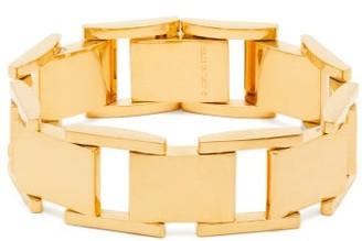Balenciaga Gold Tone Link Bracelet - Womens - Gold