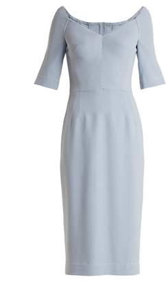 Dolce & Gabbana Structured stretch-crepe midi dress