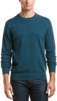 Qi Donegal Cashmere Crewneck Sweater