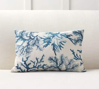 Pottery Barn Carlo Coral Print Lumbar Pillow Cover