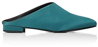 Barneys New York WOMEN'S SATIN POINTED-TOE MULES