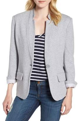 Olivia Moon Cotton Blend Knit Blazer