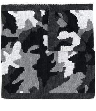 Michael Kors camouflage knit scarf
