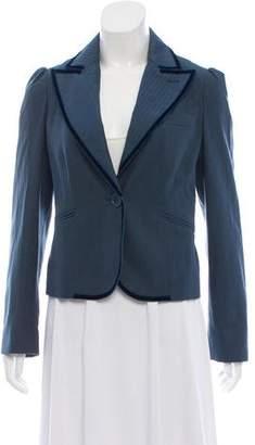 Marc Jacobs Wool-Blend Velvet-Trimmed Blazer