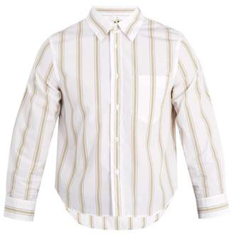 Marni Shrunken Fit Striped Cotton Shirt - Mens - White Multi