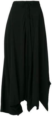 Yohji Yamamoto high-waisted drop crotch trousers