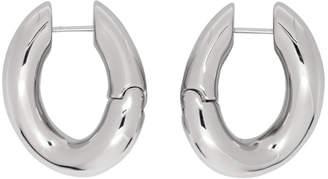 Balenciaga Silver Loop Earrings