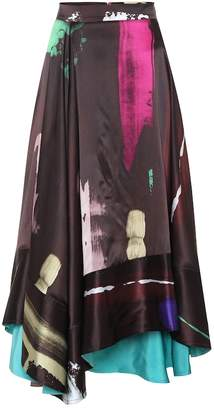 Roksanda Brea printed silk skirt